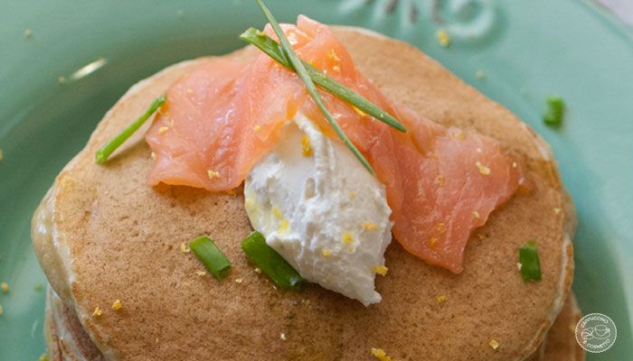 Pancakes alle patate con robiola e salmone affumicato;la ricetta de LA PROVA del CUOCO!