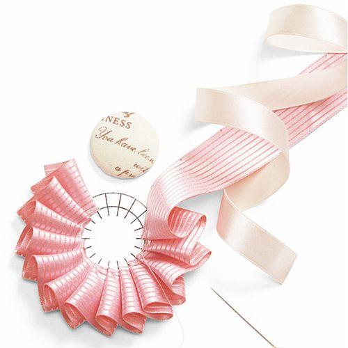 .Folded ribbon flower