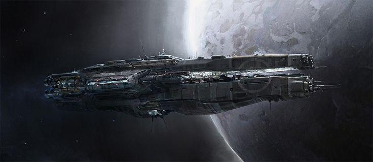 concept ships: Ship art by John Wallin Liberto