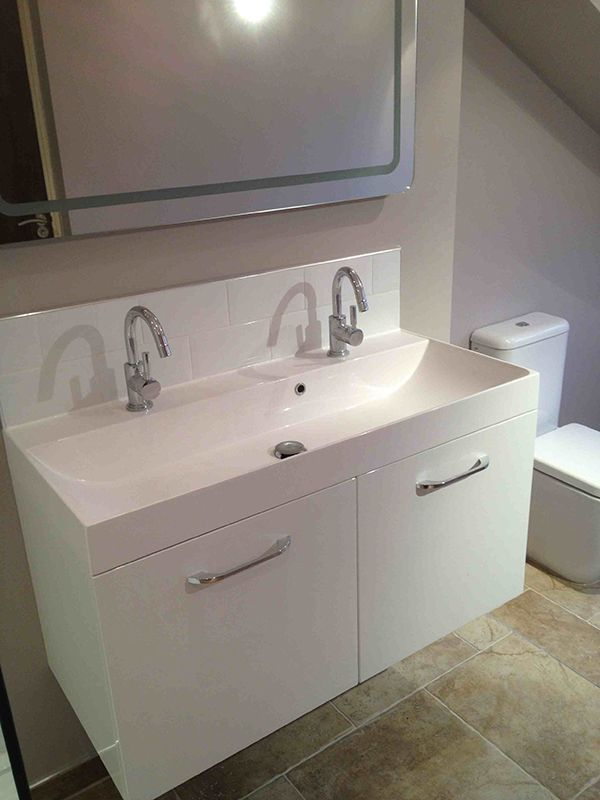 Photo Of Wall Hung Vanity Unit for a Bathroom Installation at Leeds by UK Bathroom Guru See