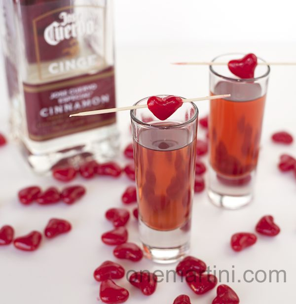 Cinnamon Hearts Tequila Shots {for Valentine's Day}