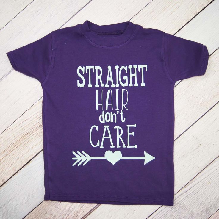 Straight Hair Don't Care - Kids Shirt