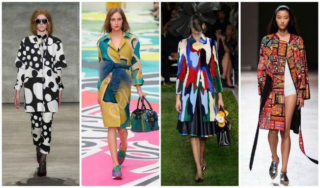 абстрактыне узоры пальто и плащи сезона весна-лето 2015