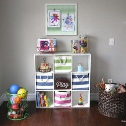 Organized play room space: Organizations Toys, Easy Recipe, Play Rooms, Diy Crafts, Plays Rooms, Rooms Spaces, Organizations Plays, Playrooms, Storage Ideas