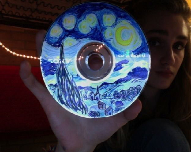 Or replicate your giftee's favorite painting in marker. | 16 Cool Ideas For Homemade Mix CD Artwork