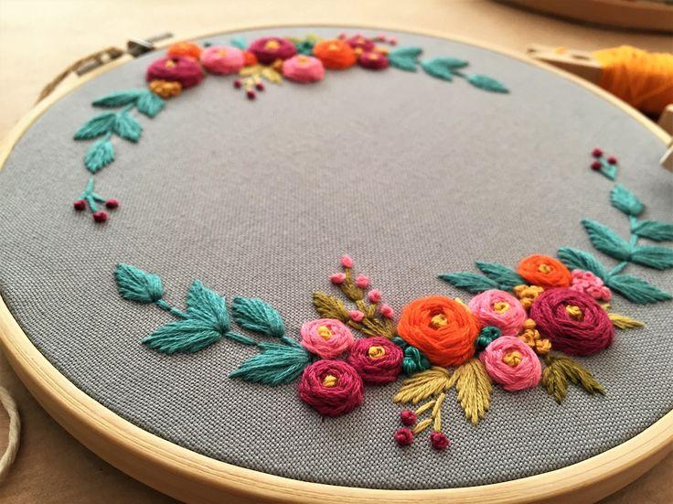Embroidery hoop,Embroidery art,Hand embroidery,Floral embroidery,Embroidery hoop art,Modern embroidery,Home decor,Personalized custom order by zezehandcraft on Etsy https://www.etsy.com/listing/550857485/embroidery-hoopembroidery-arthand