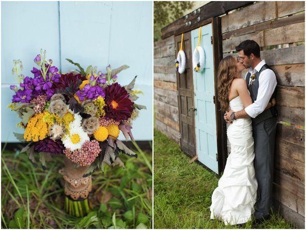 In love, love, love with that bouquet! Blackberry & Lemonade-Inspired Wedding | Bridal Musings