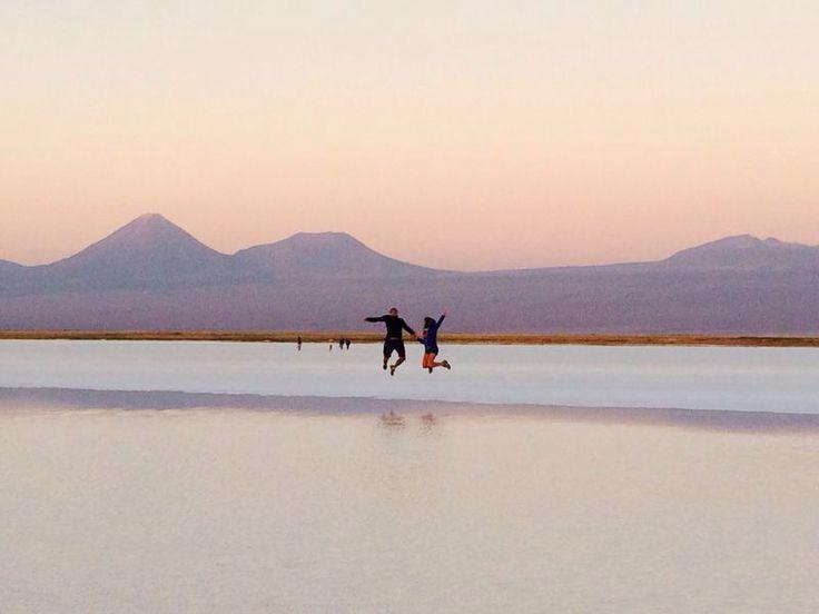 Salar de Atacama, san Pedro. Chile salto