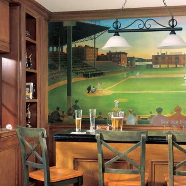 23 best images about man cave on pinterest sacks murals for Baseball stadium mural wallpaper