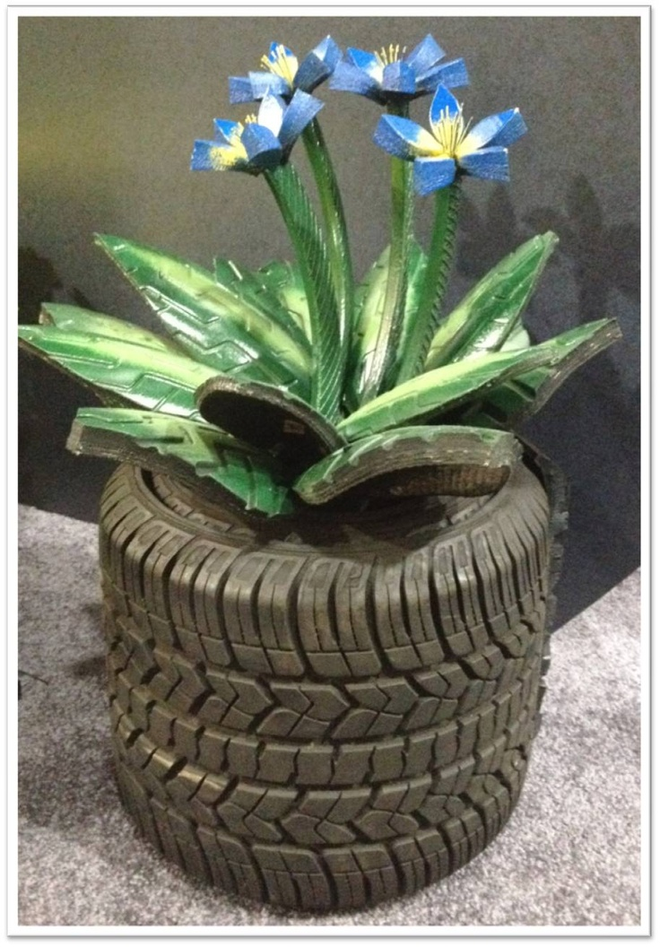 31 best fun with tires images on pinterest recycle tires for Car tire flower planter