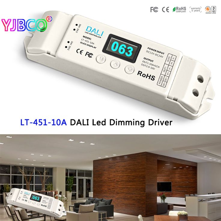 New LTECH LT-451-10A DALI Led Dimming Driver,DALI to PWM LED CV Dimming Driver;DC12-24V input;10A*1CH output for led strip #Affiliate