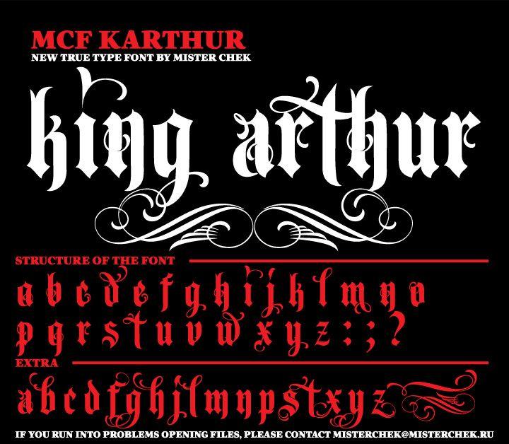 King Arthur Font By Mister Chek