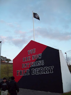 Black flag of anarchism fly's over Free Derry