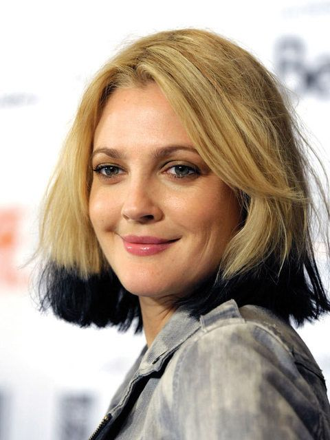 A black dip dye? Drew Barrymore makes it look effortless.