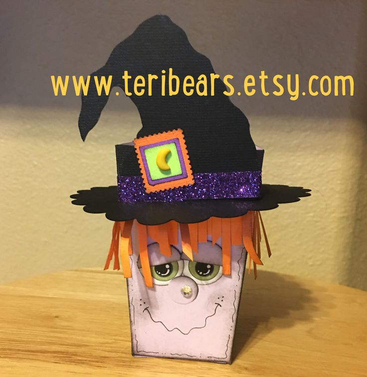 This Halloween treat popcorn box can soon be found in my Etsy shop by Teri French Halloween treat box