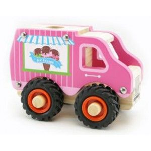 Kaper Kidz - Wooden Ice Cream Truck: This cute wooden Ice Cream Truck from Kaper Kidz is ready to ride to the rescue and fire up the imagination of any child!  The Ice Cream Truck has chunky rubber wheels. Built to handle lots of play by any little boy or girl, this wooden Ice Cream Truck will bring hours of fun! #alltotstreasures #kaperkidz #woodenicecreamtruck #woodentoys #icecreamtruck