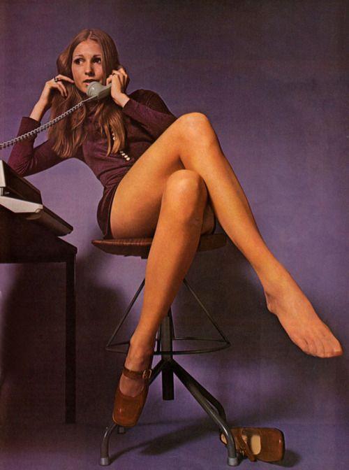 Anita Midjelång in a 1970 Swedish pantyhose advertisement.