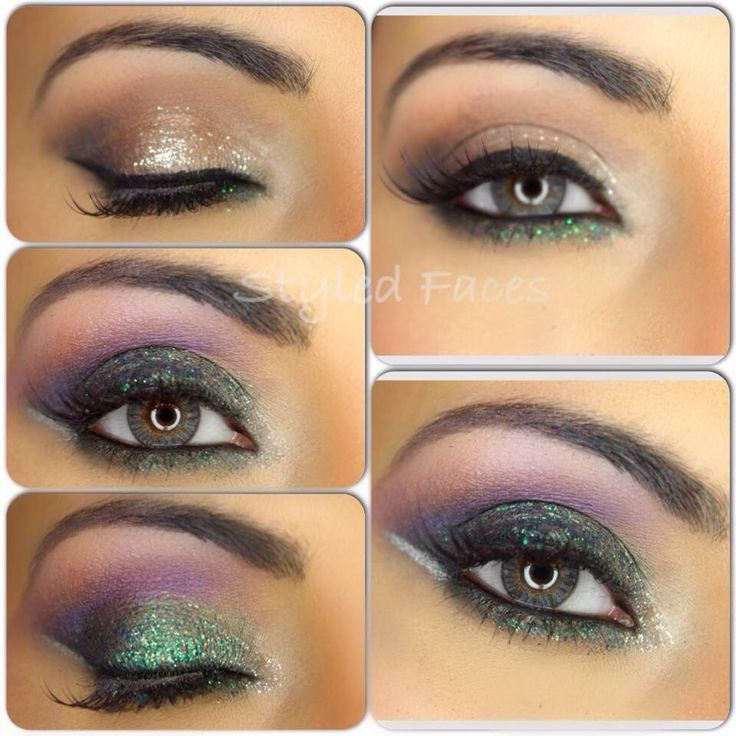 St. Party's day eye look using Eye Kandy glitters