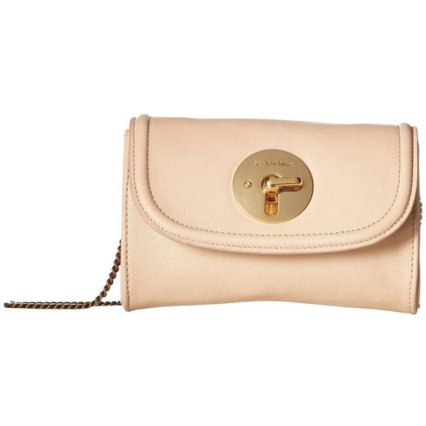 See by Chloe Lois Mini Clutch (Nude) Handbags (1.860 DKK) ❤ liked on Polyvore featuring bags, handbags, clutches, nude clutches, leather purses, genuine leather purse, beige clutches and mini pochette
