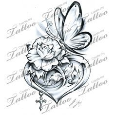 Get Rid Of The Erfly And I Love Flower Inside Heart