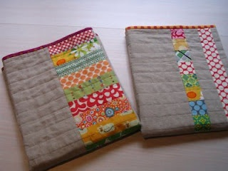 Lovely linen quilt by redpepperquilts.com