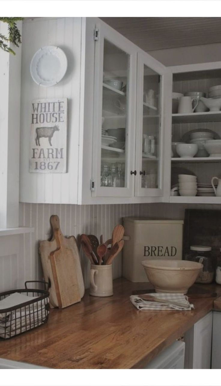 country farmhouse kitchen canisters and decor idea