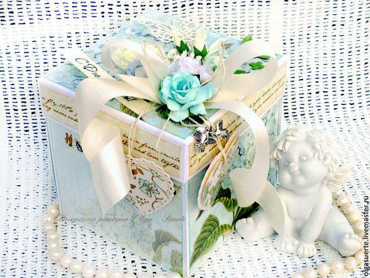 Купить Коробочка для денег Свадебная (Мэджик Бокс) - голубой, коробочка для подарка, коробочка для денег