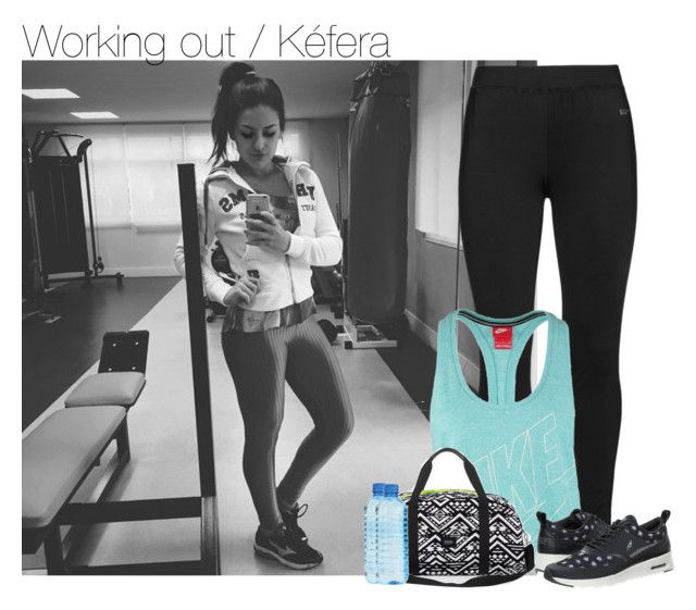 """""""Working out / Kéfera"""" by erika-sads ❤ liked on Polyvore featuring Studio, NIKE, YouTubers and 5incominutos"""