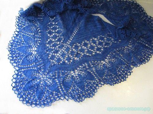 Вязание шали спицами. Схемы