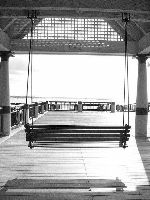 favorite spot in charleston...the waterfront park swings.