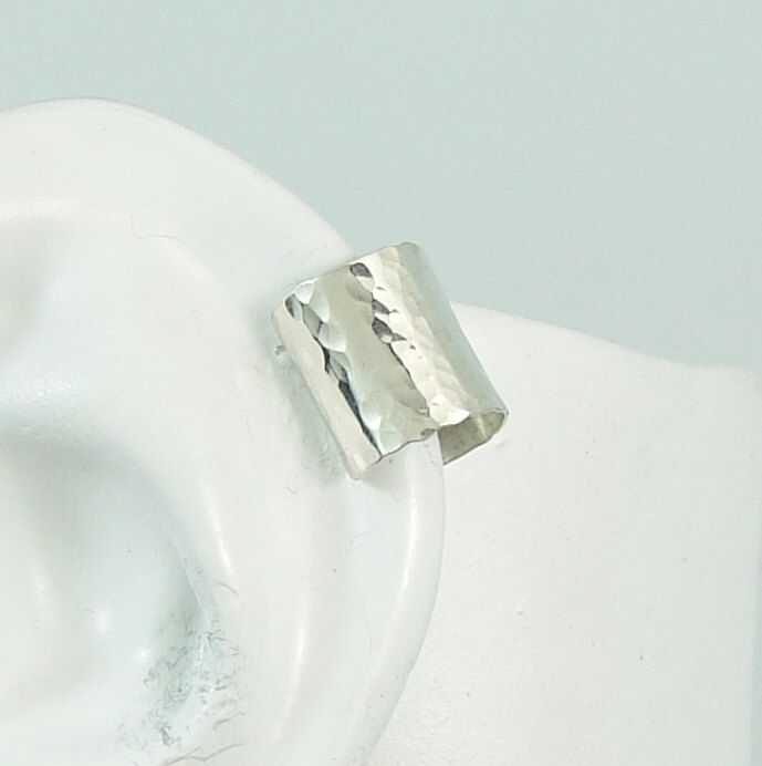 POST Pierced Cartilage Helix Ring Hex piercing Conch Earring, Body Jewelry, Upper Ear Conch, Tragus Body Piercing, Hammered SilverMC13MSSHMP by earcuffs on Etsy https://www.etsy.com/listing/109818732/post-pierced-cartilage-helix-ring-hex