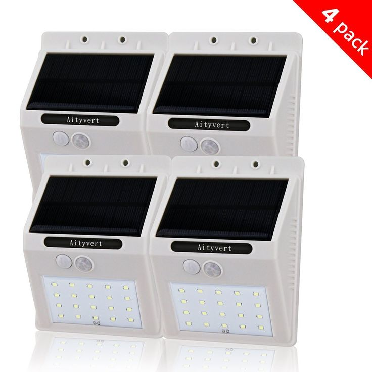 Amazon.com : Aityvert Solar Light with Motion Sensor, 20 Bright LEDs Wireless Solar Powered Motion Sensor Light for Outdoor Wall Garden Lamp Patio Deck Yard Home Driveway Stairs With Auto On/Off (4pack, white) : Lamps & Light Fixtures