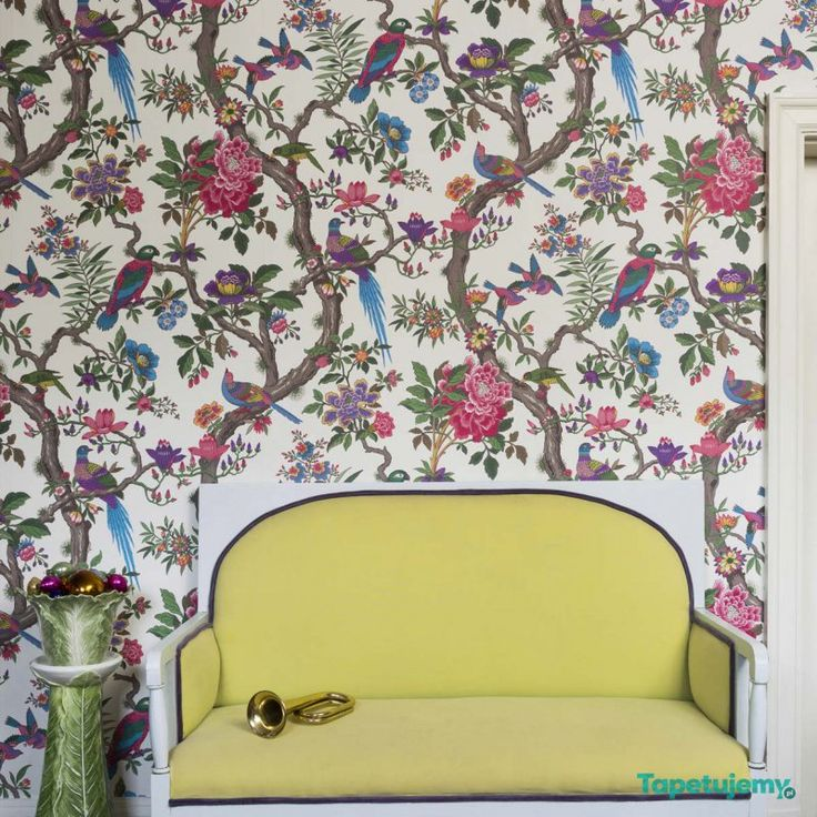 Tapeta kwiaty ptaki rośliny // wallpaper floral birds bushes  // Cole & Son - Folie - Fontainebleau 99/12051 (2231 PLN)