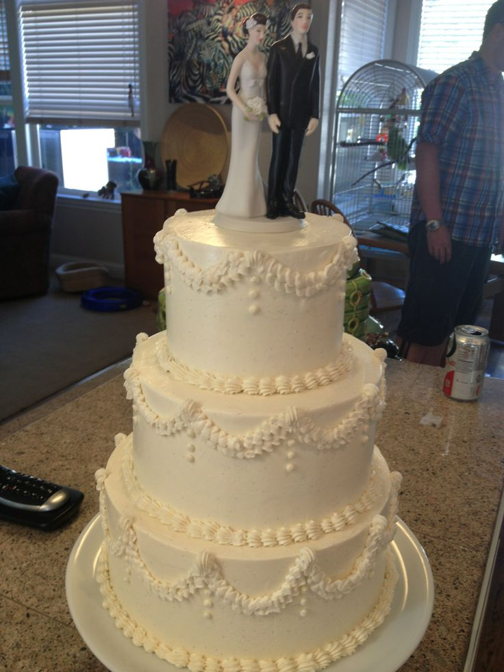 wedding bakeries in sacramento ca%0A Elegant and classic buttercream wedding cake  Cake and dessert by Sugar and  Spice Specialty Desserts