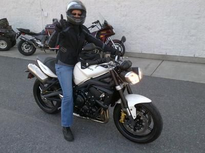 I road my husbands dirt bike for a season - a Kawasaki Super Sherpa but wanted something lower and more comfortable if I needed to go on the highway.