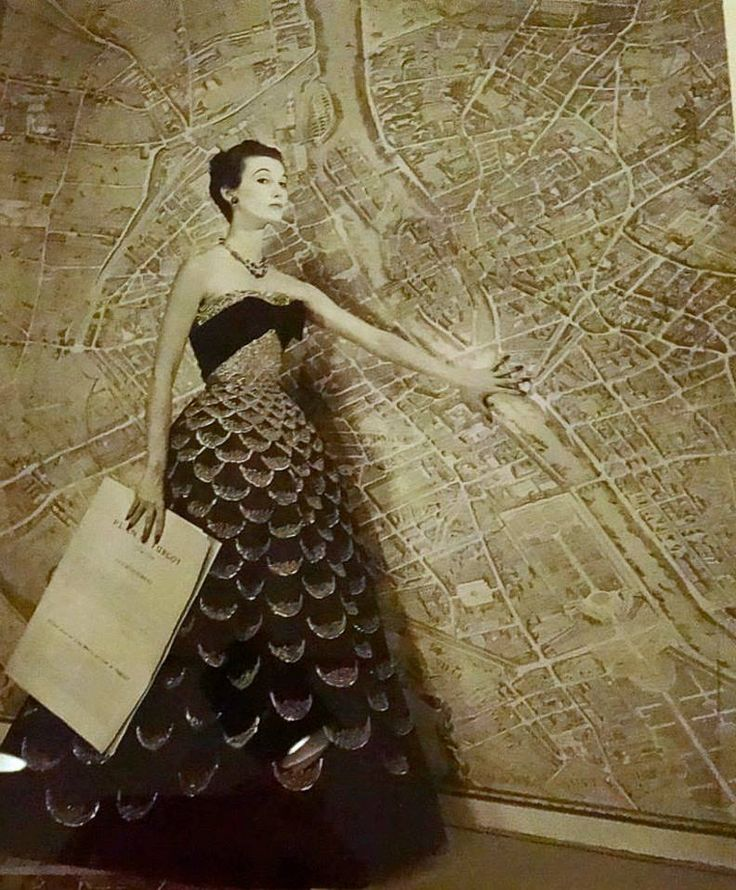 Global Travel Week: Mary Jane Russel wears Dior in a Louise Dahl-Wolfe photograph, 1951. #WomenofBazaar at The Museum at FIT.http://ow.ly/ZpEp6