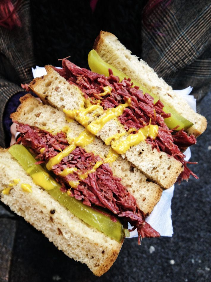 London Borough Market Salt Beef Sandwich: every so often i'll get a hankering for a deli sandwich on toasted rye, slathered with yellow mustard and a pickle or sauerkraut on the side
