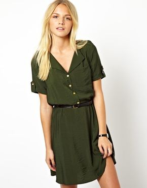 ASOS Shirt Dress With Military Detail, limited sizes available but a nice dress for sprinter..... :)