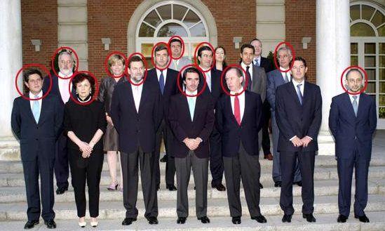 .11 de los 14 ministros de Aznar están imputados por corrupción, blanqueo de capitales, malversación... http://www.eldiariohoy.es/2017/04/11-de-los-14-ministros-de-aznar-estan-imputados-por-corrupcion-blanqueo-de-capitales-malversacion.html?utm_source=_ob_share&utm_medium=_ob_twitter&utm_campaign=_ob_sharebar #politica #españa #corrupcion #pp #justicia #Aznar #corruptos #blanqueo