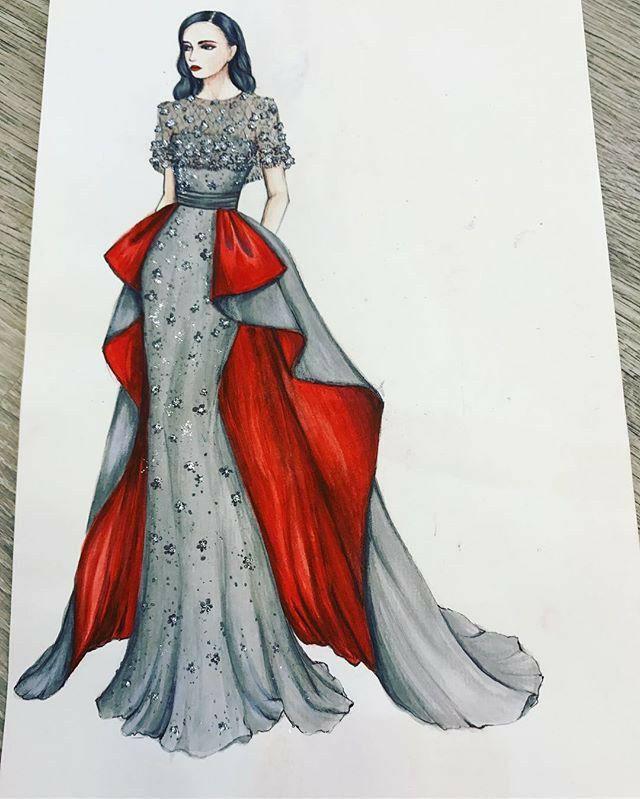 تعليم رسم تصميم الأزياء للمبتدأين يناير 11 2020 في 12 09 Am متل ما تعودنا نترك ب Dress Design Sketches Fashion Illustration Dresses Fashion Design