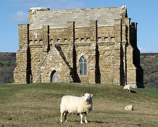 Abbotsbury, St Catherine's Chapel, Dorset. Set high on a hilltop overlooking Abbotsbury Abbey, this sturdily buttressed and barrel-vaulted 14th-century chapel was built by the monks as a place of pilgrimage and retreat.