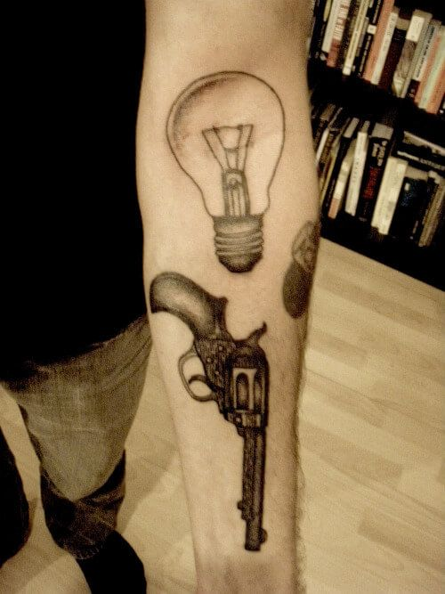 100 dice tattoo little guns and money tattoos for for How much does a tattoo gun cost