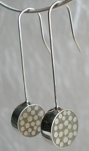Carla Pennie Jewelry Design – Earrings – Fine Silver Dot Earrings