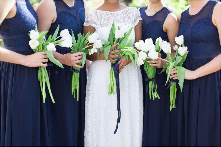 Tulip bouquet navy bridesmaids dresses | Wedding | Kenilworth & Groot Constantia | Cape Town