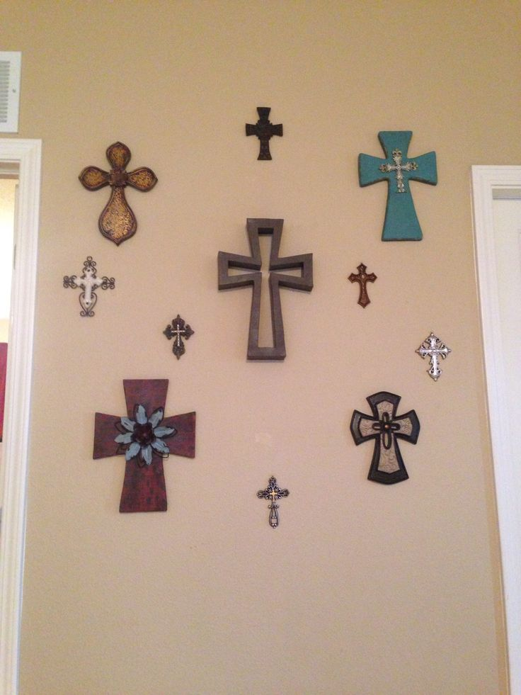 Wall Crosses Home Decor : Best ideas about cross wall collage on