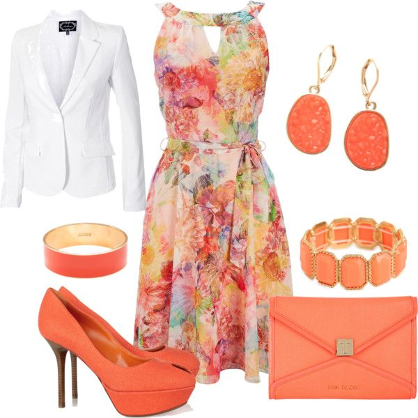 """Floral dress outfit"" by esperanzandrea on Polyvore"