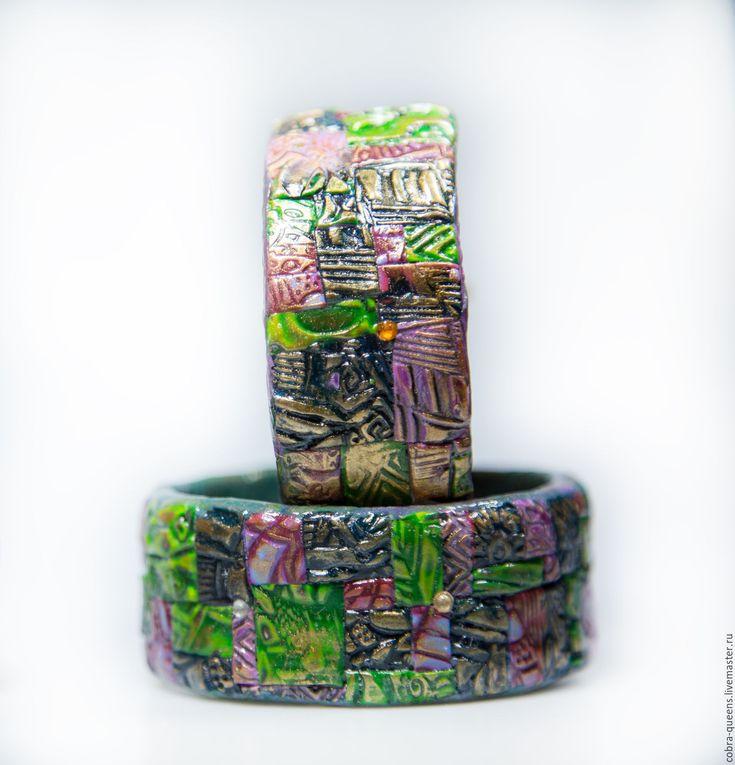 """Купить """"Пазл мечты"""" парные браслеты - Браслет ручной работы, полимерная глина, браслет на руку"""