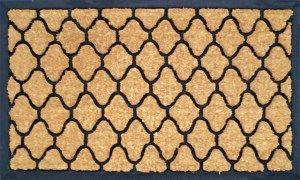 Резиновый коврик с кокосовой щетиной  в прихожую КК 21 фигурный