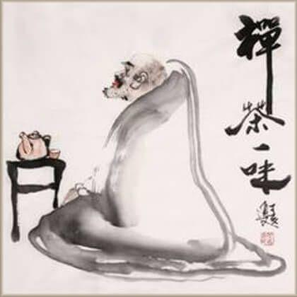 Legenda o Bodhidharmových viečkach a lístkoch čaju.
