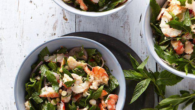 Thai Prawn Salad by David Herbert, theaustralian: A perfect balance of hot, sweet, sour and salty. #Thai_Prawn_Salad #David_Herbert #theaustralian